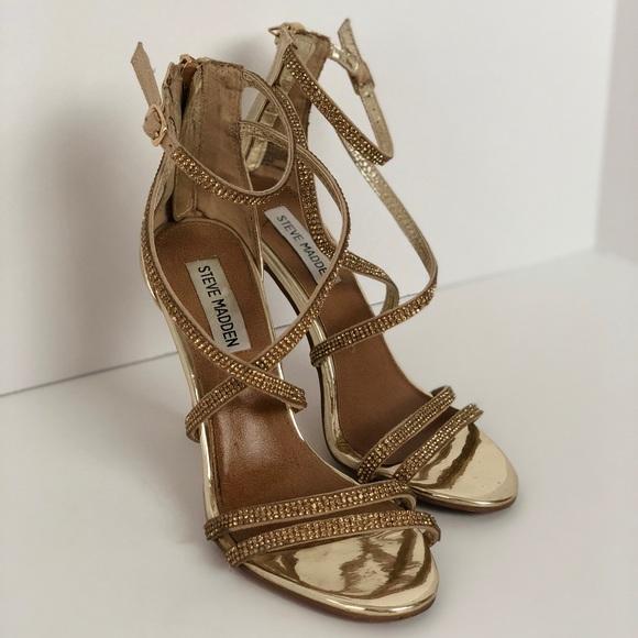 dcfdf25daa8 Steve Madden Gold strappy heels